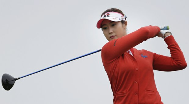 First-round leader Ha-Neul Kim during the second round of the 2013 U.S. Women's Open at Sebonack in Southampton, N.Y.