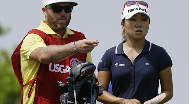 I.K. Kim during the first round of the 2013 U.S. Women's Open at Sebonack Golf Club.