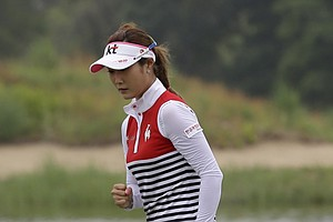 Ha-Neul Kim during the second round of the 2013 U.S. Women's Open at Sebonack in Southampton, N.Y.