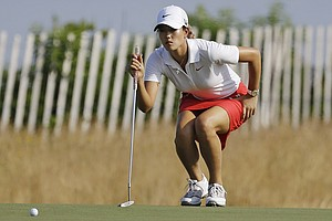 Michelle Wie during the first round of the 2013 U.S. Women's Open at Sebonack in Southampton, N.Y.
