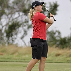 Caroline Hedwall during the 2013 U.S. Women's Open at Sebonack in Southampton, N.Y.