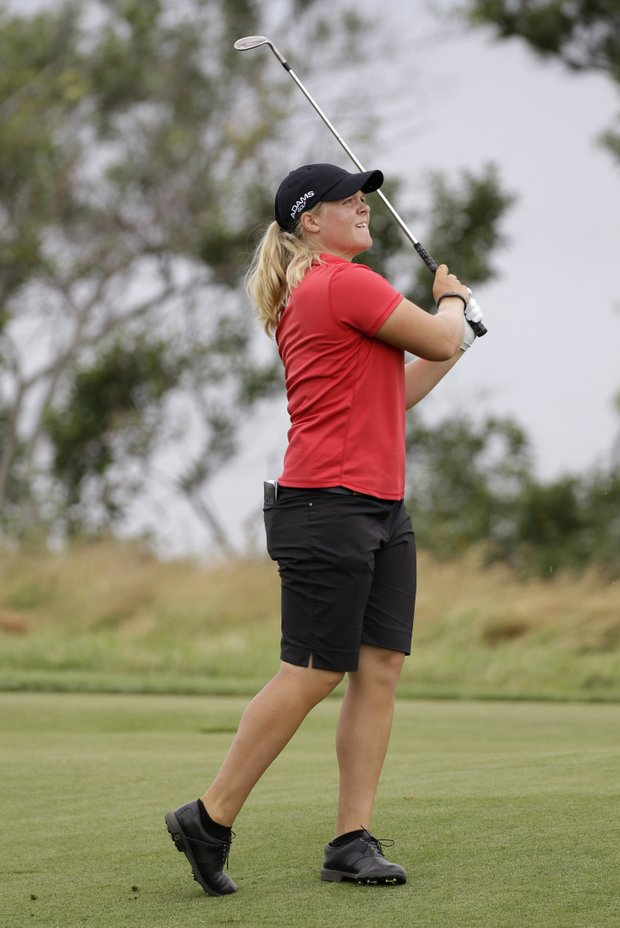 Caroline Hedwall during the 2013 U.S. Women's Open at Sebonack in Southampton, N.Y.