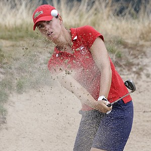 Karine Icher during the first round of the 2013 U.S. Women's Open at Sebonack in Southampton, N.Y.