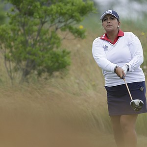 Lizette Salas during the second round of the 2013 U.S. Women's Open at Sebonack in Southampton, N.Y.