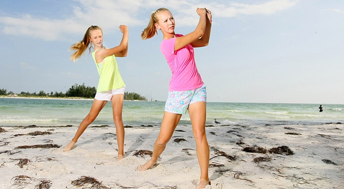 Amateur Nelly Korda (left), 14, and her sister, LPGA pro Jessica, made the cut at the 2013 U.S. Women's Open.