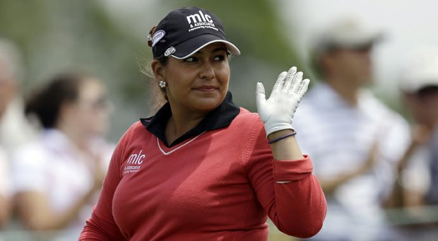 Lizette Salas during the third round of the 2013 U.S. Women's Open at Sebonack in Southampton, N.Y.