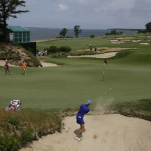 Anna Nordqvist during the third round of the 2013 U.S. Open at Sebonack in Southampton, N.Y.