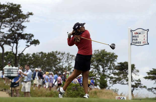 Lizette Salas during the third round of the 2013 U.S. Open at Sebonack in Southampton, N.Y.