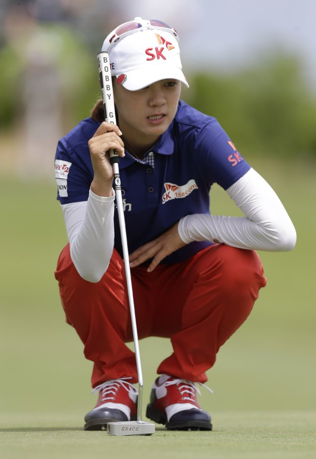 Na Yeon Choi during the third round of the 2013 U.S. Women's Open at Sebonack in Southampton, N.Y.
