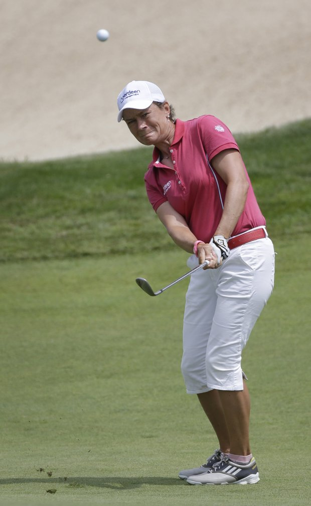 Catriona Matthew during the third round of the 2013 U.S. Women's Open at Sebonack in Southampton, N.Y.