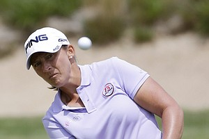 Angela Stanford during the third round of the 2013 U.S. Women's Open at Sebonack in Southampton, N.Y.