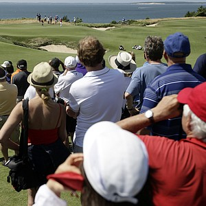 The gallery has a view of the coast at Sebonack in Southampton, N.Y., during the third round of the 2013 U.S. Women's Open.