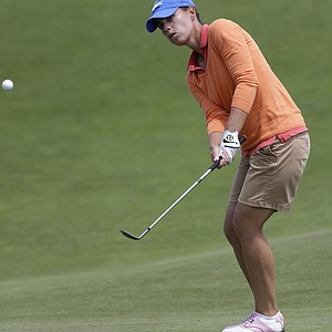 Karine Icher during the third round of the 2013 U.S. Women's Open at Sebonack in Southampton, N.Y.