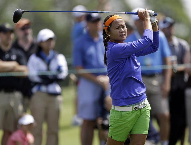 Jennifer Rosales during the third round of the 2013 U.S. Women's Open at Sebonack in Southampton, N.Y.