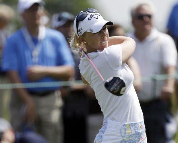 Brooke Mackenzie Henderson during the third round of the 2013 U.S. Women's Open at Sebonack in Southampton, N.Y.