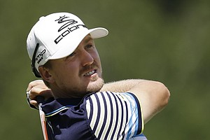 Jonas Blixt during the third round of the PGA Tour's 2013 Greenbrier Classic.