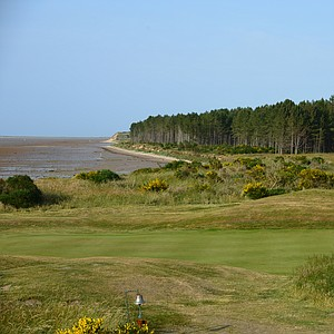 A look from the 12th tee back at the 11th hole at Tain Golf Club in Scotland.