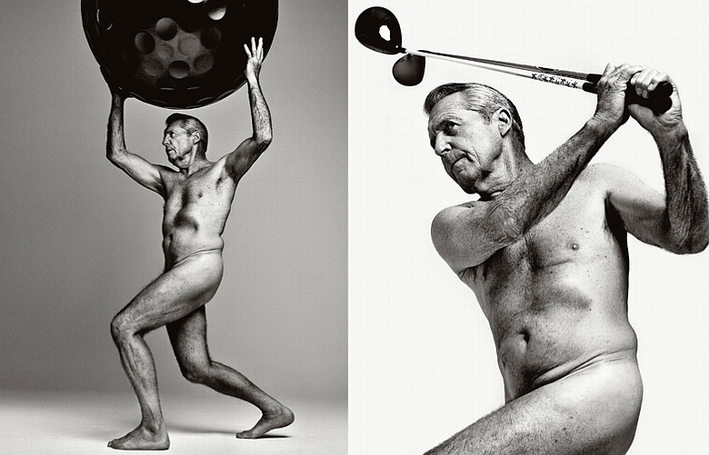 Gary Player poses for the 2013 edition of ESPN's Body Issue.