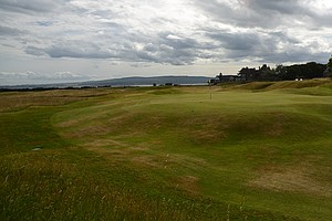 The first hole at historic Royal Dornoch in Scotland.