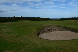 The seventh hole at historic Royal Dornoch in Scotland.