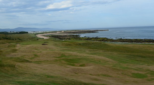 No. 8 at Royal Dornoch offers a panoramic view of the Scottish coast.