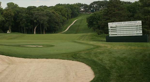 The 2013 U.S. Senior Open at Omaha CC could come down to its 18th hole Sunday.
