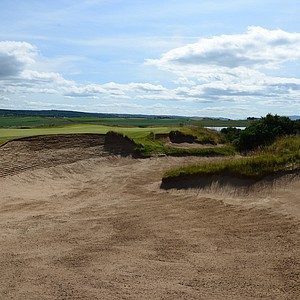 The par-5 sixth hole at Castle Stuart.