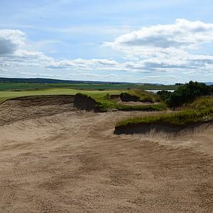 The par-5 sixth hole at Castle Stuart.