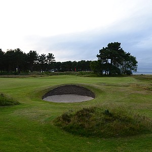 The par-3 14th hole at Nairn.