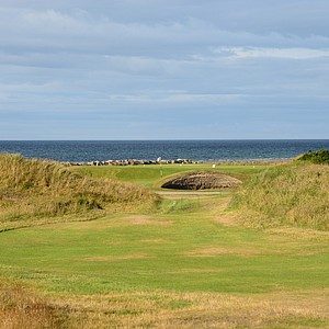 The par-3 fourth hole at Nairn.