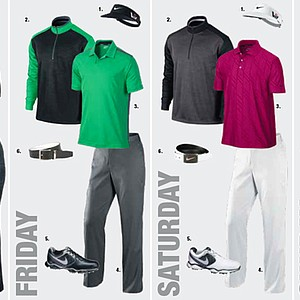 Carl Pettersson's apparel for the 2013 Open Championship at Muirfield.