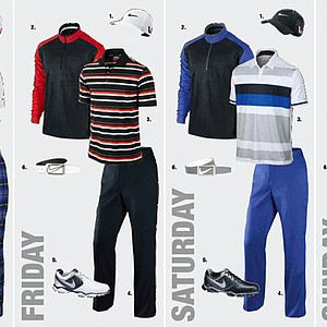 Francesco Molinari's apparel for the 2013 Open Championship at Muirfield.