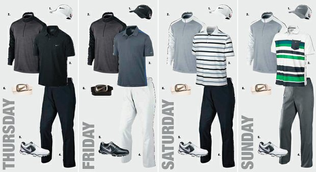Kyle Stanley's apparel for the 2013 Open Championship at Muirfield.