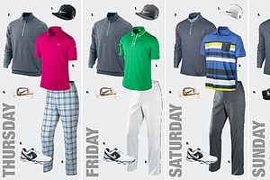 Nick Watney's apparel at the 2013 Open Championship.