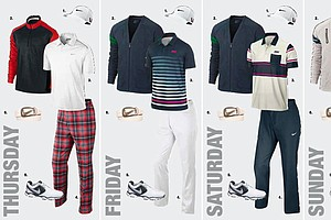 Oliver Fisher's apparel at the 2013 Open Championship at Muirfield.