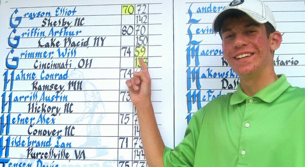 Will Grimmer posted 11-under 59 on Pinehurst No. 1 in the second round of the North & South Junior.