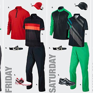 Rory McIlroy's apparel at the 2013 Open Championship at Muirfield.