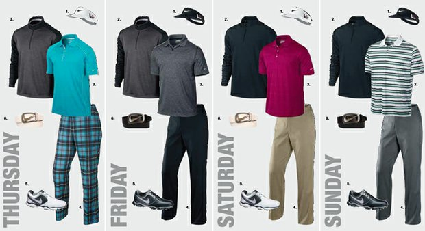 Russell Henley's apparel at the 2013 Open Championship at Muirfield