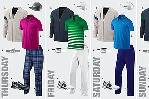 Thorbjorn Olesen's apparel for the 2013 Open Championship at Muirfield.