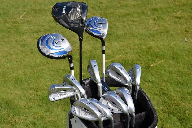 Louis Oosthuizen, winner of the 2010 Open Championship at St. Andrews, uses 14 Ping clubs.