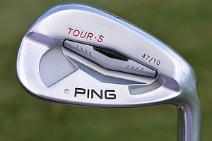 Louis Oosthuizen's pitching wedge is a 47-degree Ping Tour-S with a True Temper Dynamic Gold Tour Issue X100 shaft.