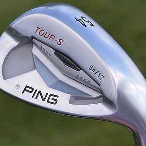 Louis Oosthuizen's Ping Tour-S sand wedge 54 degrees of loft.