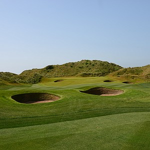 A look at the green on the first hole at Trump Scotland.