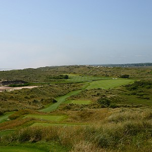 The view from the tee at the second hole at Trump Scotland.