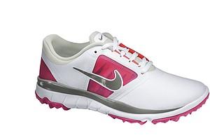 Women's White/Vivid Pink Nike FI Impact golf shoe