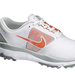 Women's White/Turf Orange Nike FI Impact golf shoe