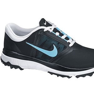 Women's Black/Polarized Blue Nike FI Impact golf shoe