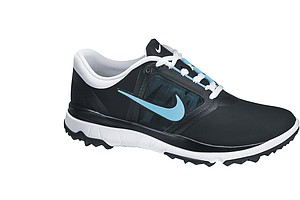 Women's Black/Polarized Blue Nike FI Impact golf shoe