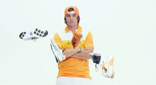 Rickie Fowler shows off the Faas Lite and Faas Lite Mesh Puma Golf shoes.