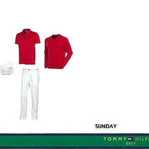 Sunday's Tommy Hilfiger Golf outfit for Keegan Bradley at the 2013 Open Championship at Muirfield.